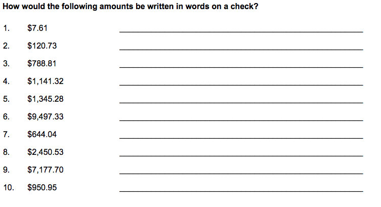 Checks Writing Dollars and Cents Teach Math Interactive – Check Writing Worksheets